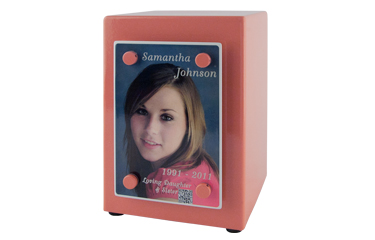 Cremation Urn with Ceramic Photo