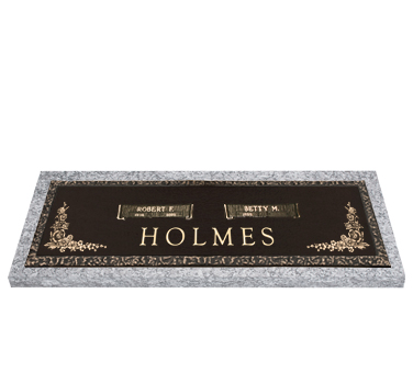 Bronze Headstone 44x14 Companion
