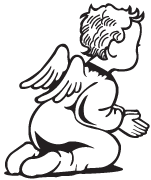Clipart Image For Headstone Monument angel 03