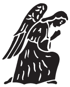 Clipart Image For Headstone Monument angel 09