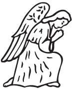 Clipart Image For Headstone Monument angel 10