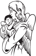 Clipart Image For Headstone Monument angel 14