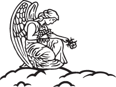 Clipart Image For Headstone Monument angel 17