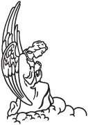 Clipart Image For Headstone Monument angel 18