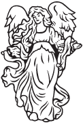 Clipart Image For Headstone Monument angel 28