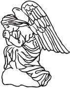 Clipart Image For Headstone Monument angel 32