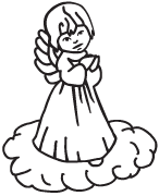 Clipart Image For Headstone Monument angel 36
