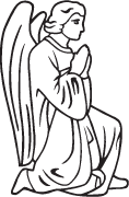Clipart Image For Headstone Monument angel 38