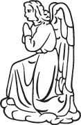Clipart Image For Headstone Monument angel 39