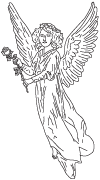 Clipart Image For Headstone Monument angel 41