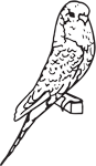 Clipart Image For Headstone Monument Bird 02