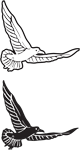 Clipart Image For Headstone Monument Bird 07