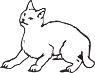 Clipart Image For Headstone Monument Cat 01