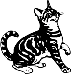 Clipart Image For Headstone Monument Cat 12