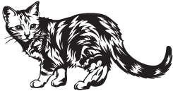 Clipart Image For Headstone Monument Cat 15