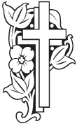 Clipart Image For Headstone Monument cross 42