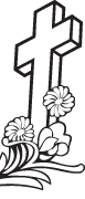 Clipart Image For Headstone Monument cross 86
