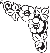 Headstone Clip Art Examples of flower-borders | Memorial Clip Art