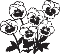Clipart Image For Headstone Monument flower 11