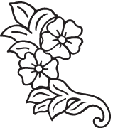 Clipart Image For Headstone Monument flower 22