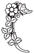 Clipart Image For Headstone Monument flower 23