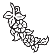 Clipart Image For Headstone Monument flower 24