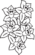 Clipart Image For Headstone Monument flower 34