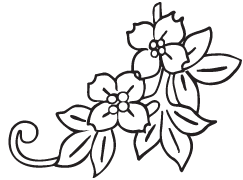 Clipart Image For Headstone Monument flower 36