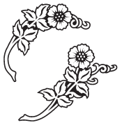 Clipart Image For Headstone Monument flower 39