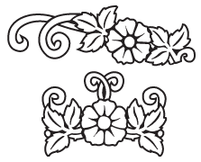 Clipart Image For Headstone Monument flower 41