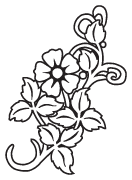Clipart Image For Headstone Monument flower 55