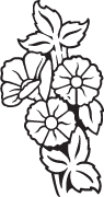 Clipart Image For Headstone Monument flower 56