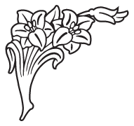 Clipart Image For Headstone Monument flower 58