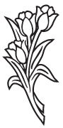 Clipart Image For Headstone Monument flower 59