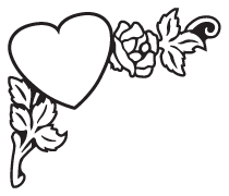 Clipart Image For Headstone Monument heart 03