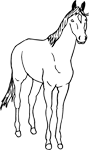 Clipart Image For Headstone Monument Horse 01