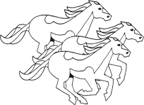 Clipart Image For Headstone Monument Horse 02
