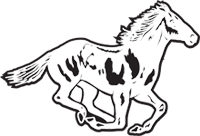 Clipart Image For Headstone Monument Horse 07