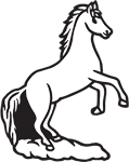 Clipart Image For Headstone Monument Horse 18