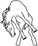 Clipart Image For Headstone Monument Horse 19