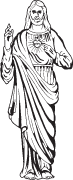 Clipart Image For Headstone Monument jesus 03