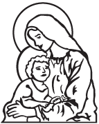 Clipart Image For Headstone Monument mary 05