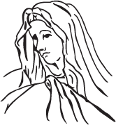 Clipart Image For Headstone Monument mary 08