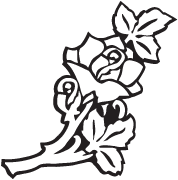 Clipart Image For Headstone Monument rose 04