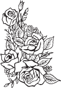 Clipart Image For Headstone Monument rose 13