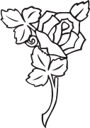 Clipart Image For Headstone Monument rose 14
