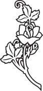 Clipart Image For Headstone Monument rose 21