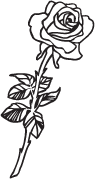 Clipart Image For Headstone Monument rose 23