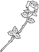 Clipart Image For Headstone Monument rose 27