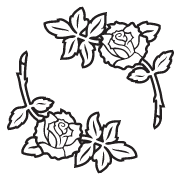 Clipart Image For Headstone Monument rose 28